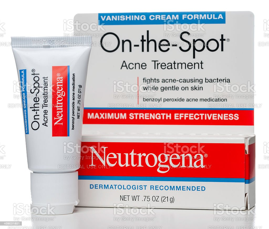 Neutrogena On-the-Spot Acne Treatment cream stock photo