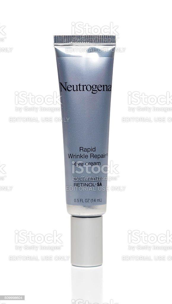 Neutrogena Rapid Wrinkle Repair eye cream tube stock photo
