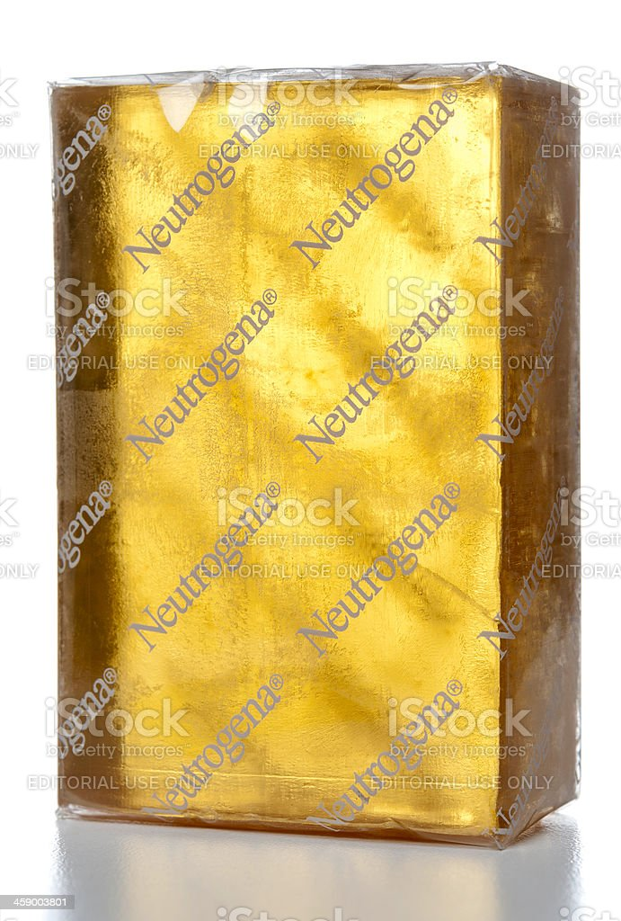 Neutrogena Soap Bar wrapped stock photo