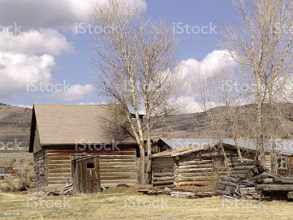 Nevada City Ghost Town royalty-free stock photo