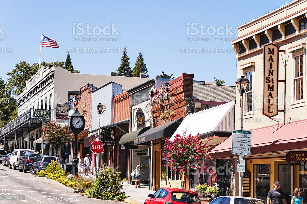Nevada City Views stock photo