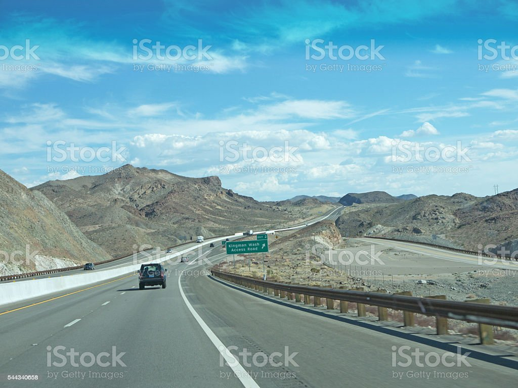 Nevada desert road stock photo