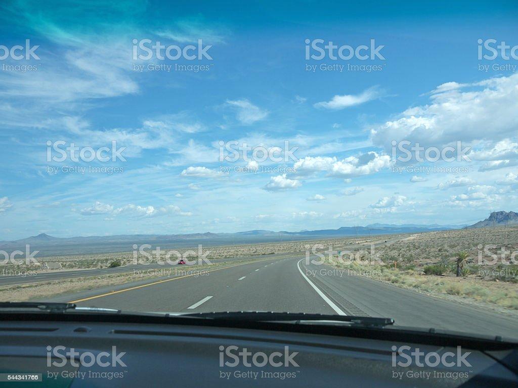 Nevada desert road stock photo