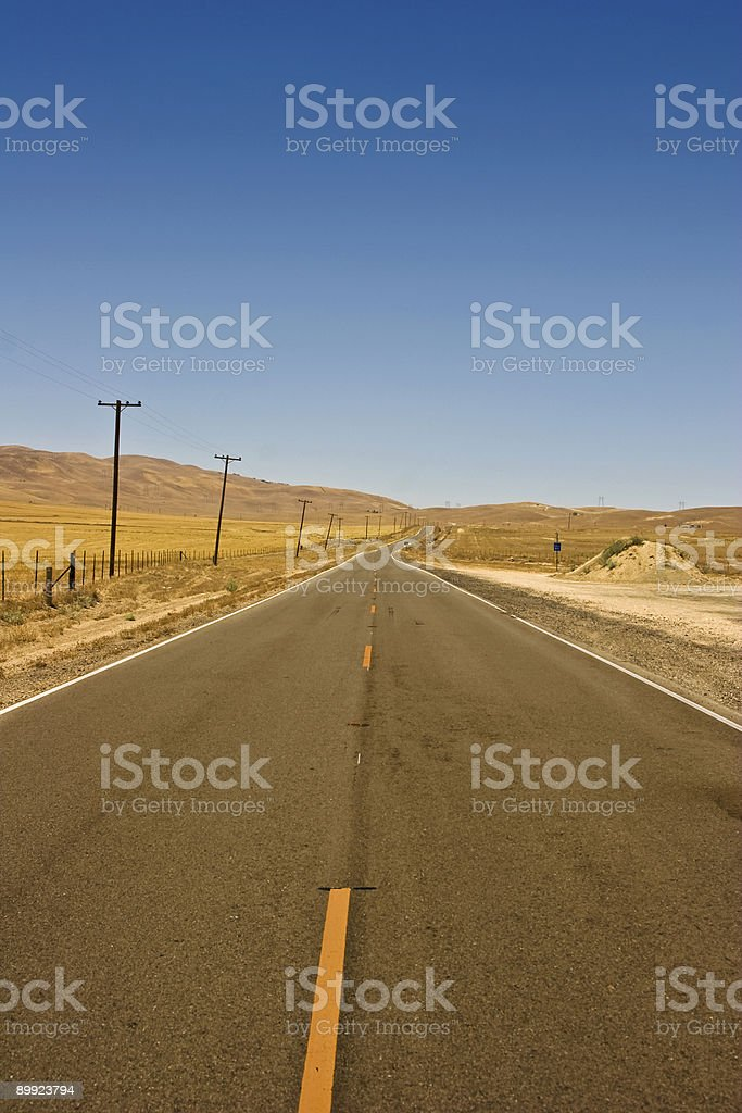 Nevada Desert Road royalty-free stock photo