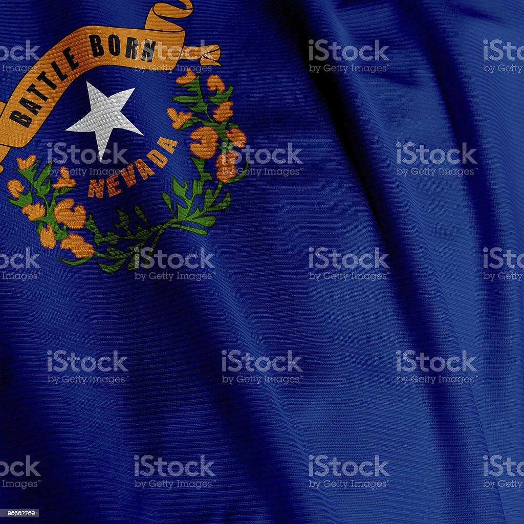 Nevada Flag Closeup royalty-free stock photo