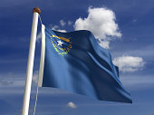 Nevada flag (with clipping path)