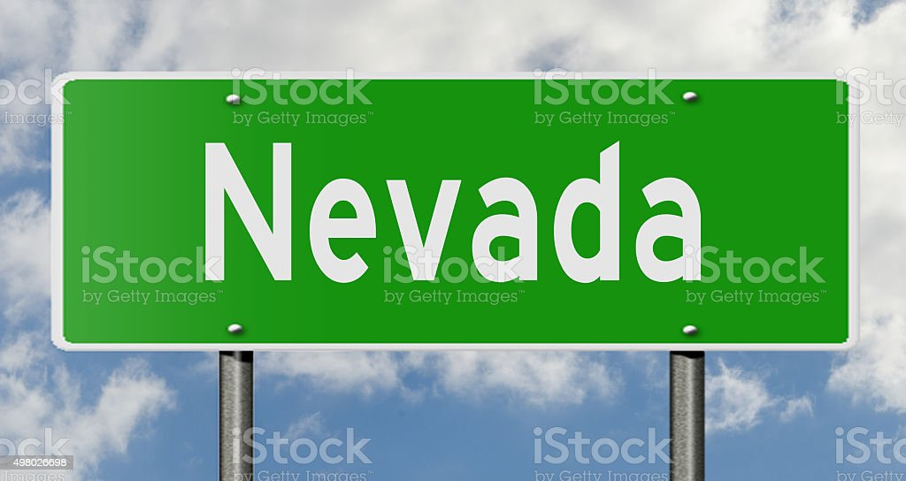 Nevada highway sign stock photo