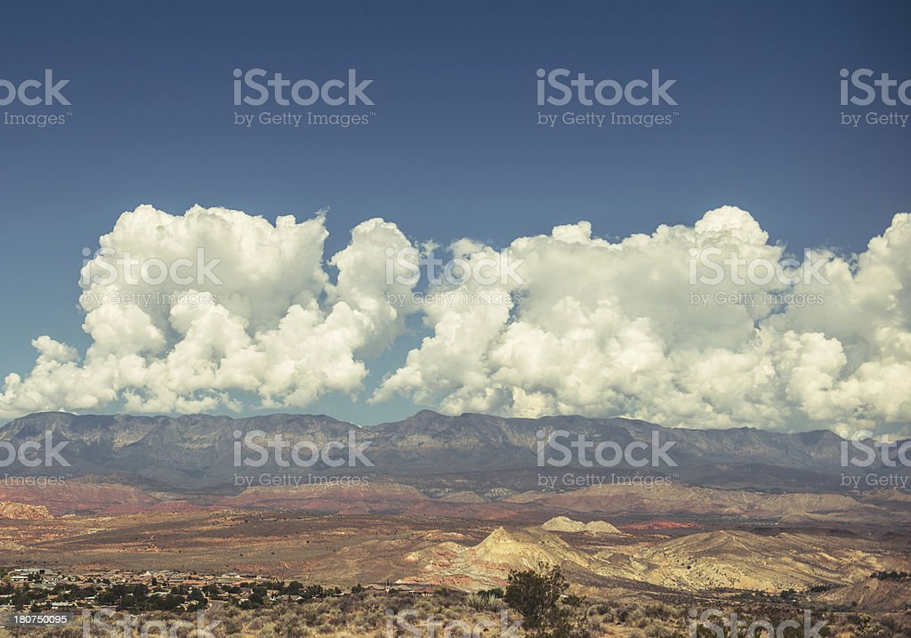 nevada mountain stock photo