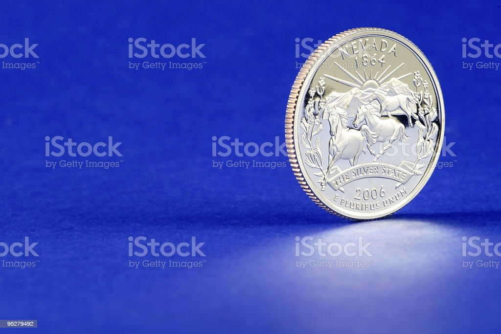 Nevada State Quarter 2006 Coin stock photo