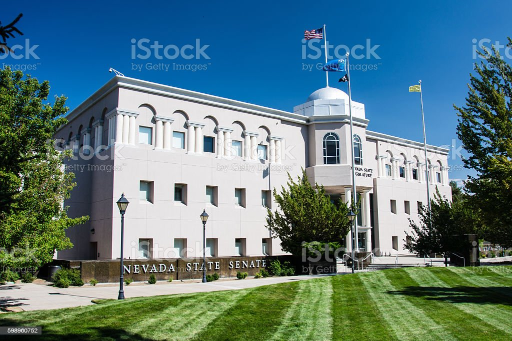 Nevada State Senate Building stock photo