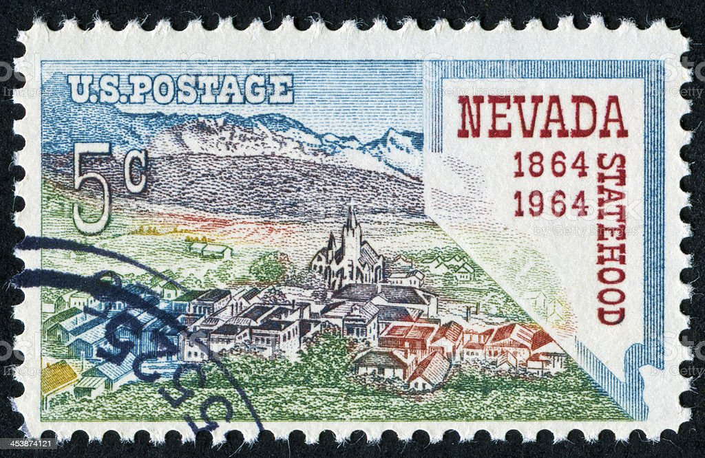 Nevada Statehood Stamp royalty-free stock photo