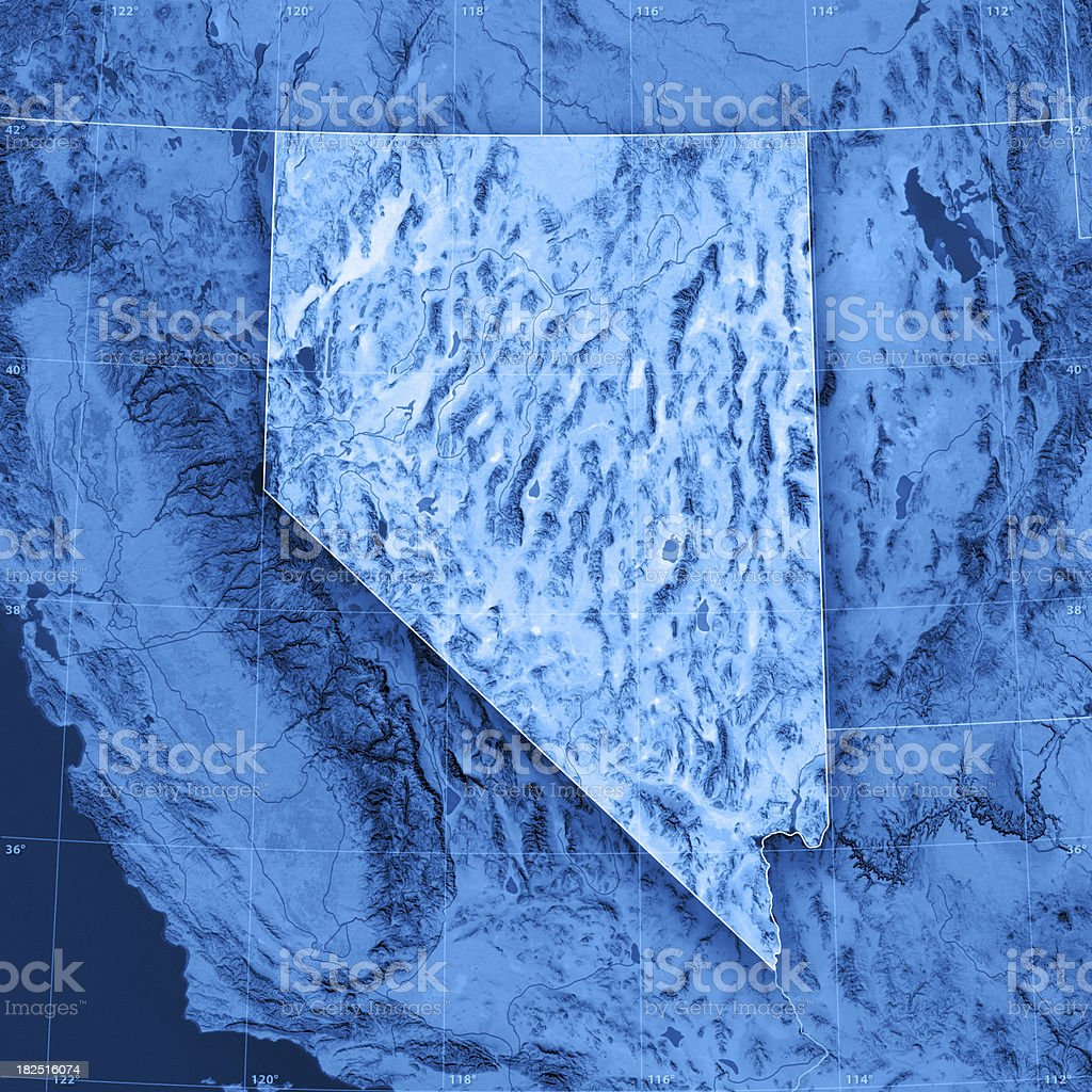 Nevada Topographic Map royalty-free stock photo
