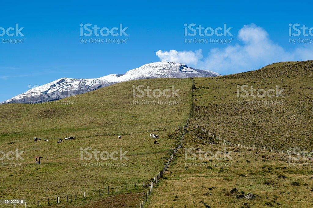 Nevado del Ruiz stock photo