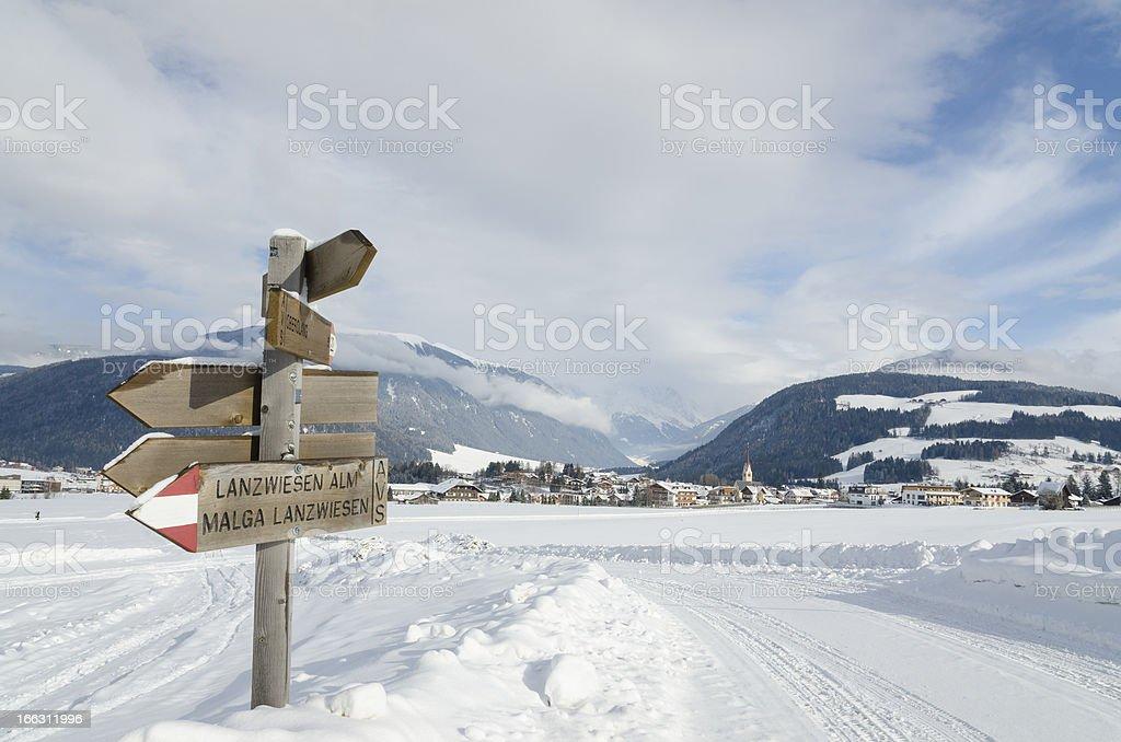 Neve in Trentino Alto Adige Italy royalty-free stock photo