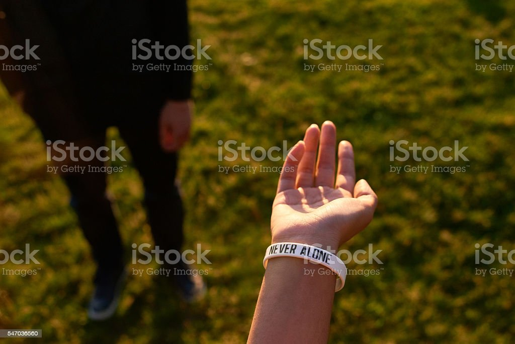Never alone stock photo
