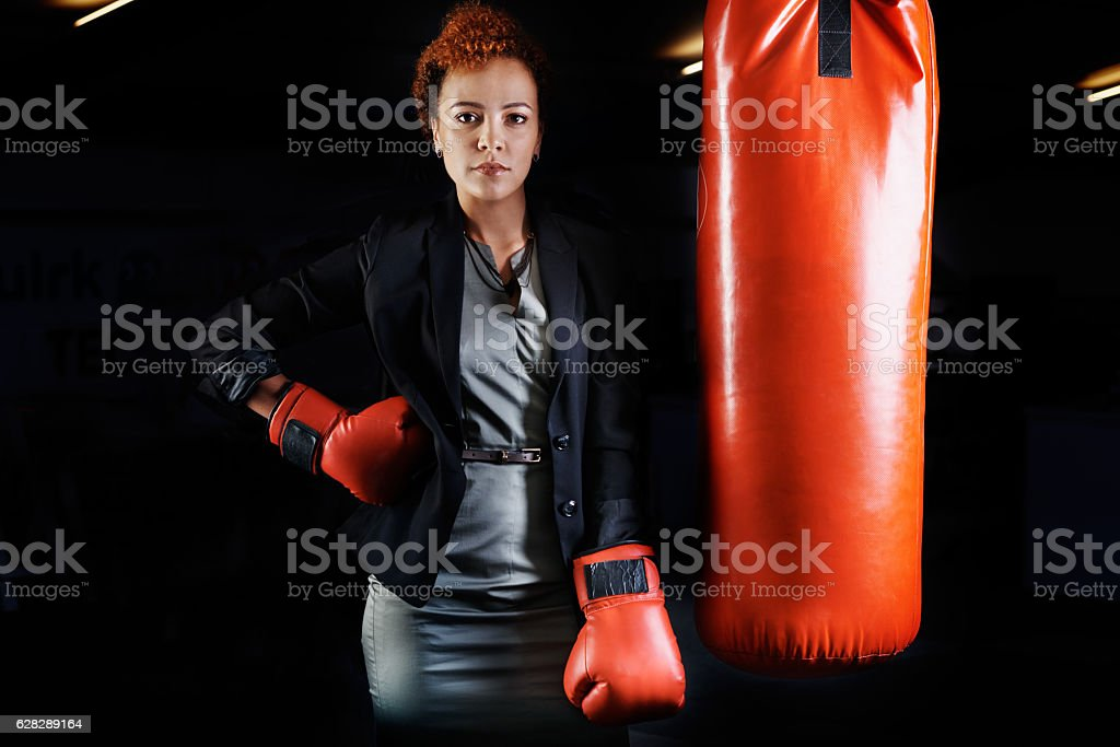 Never back down stock photo