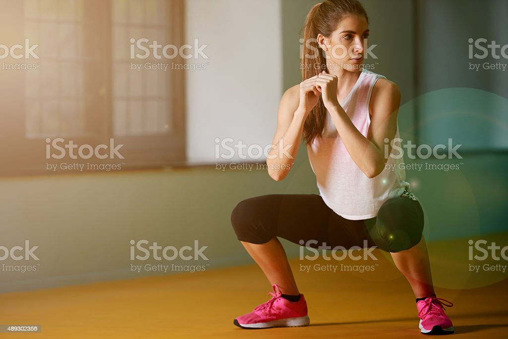 I never skip a workout stock photo