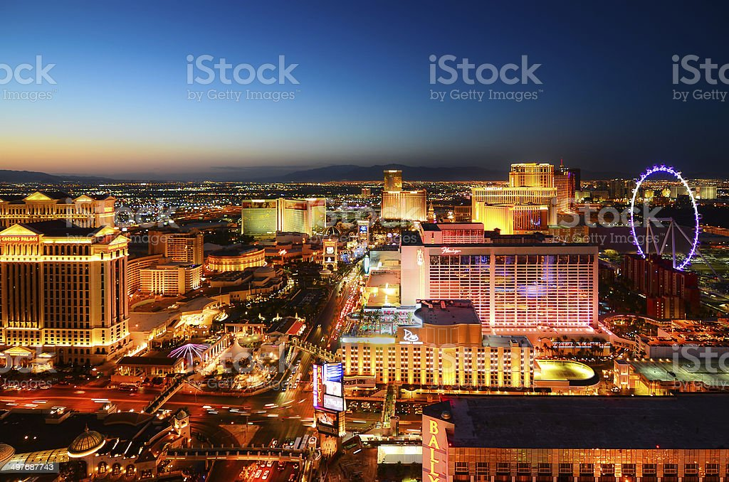 Never sleep Las Vegas stock photo