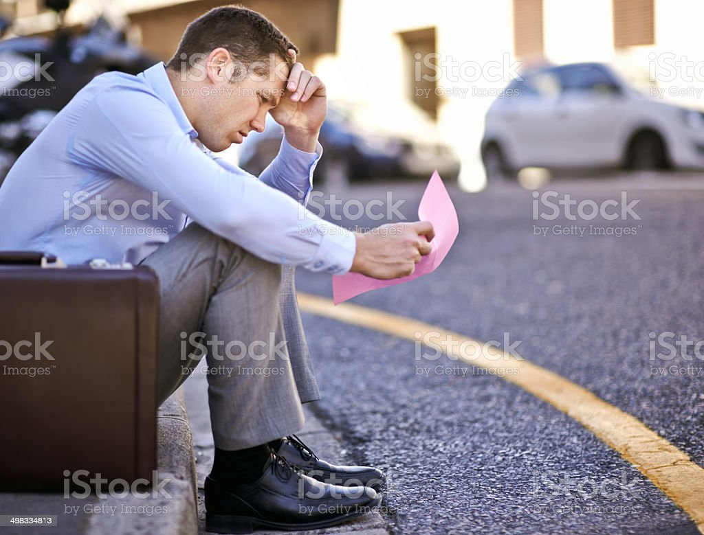 I never thought this would happen to me stock photo
