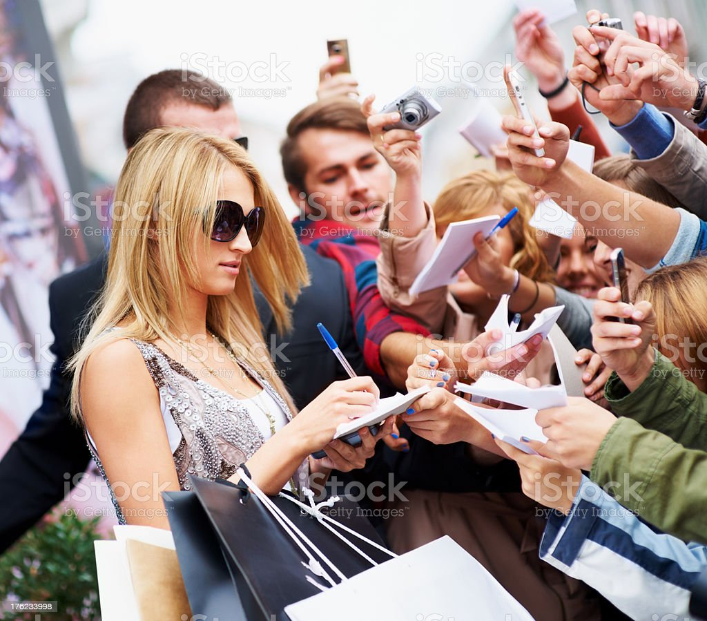 Never too famous for my fans royalty-free stock photo