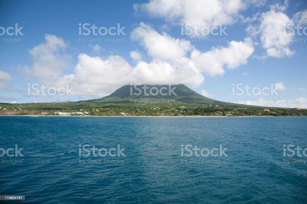 Nevis coastline stock photo