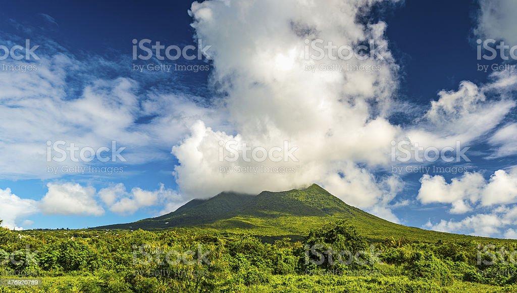 Nevis Peak stock photo