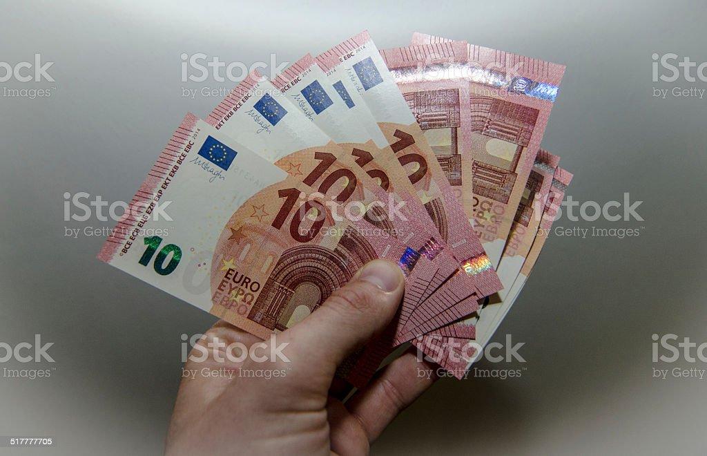 Neuer 10 Euro Schein, Zehn Euro Scheine, €10.- stock photo