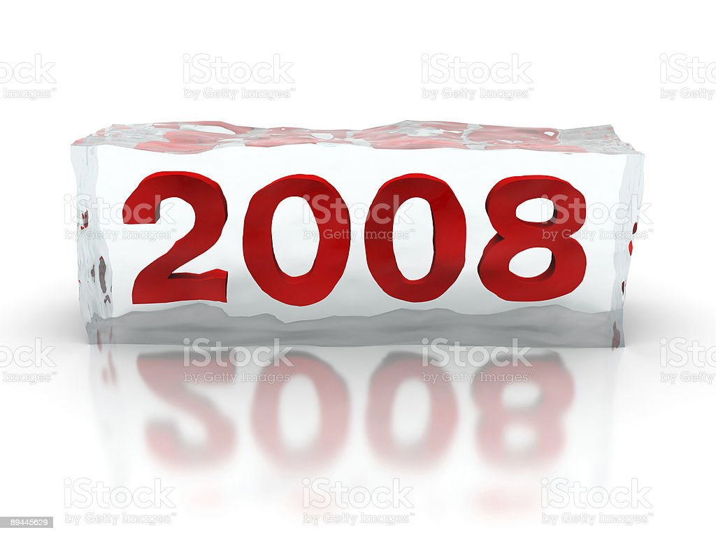 New 2008 year in ice cube royalty-free stock photo