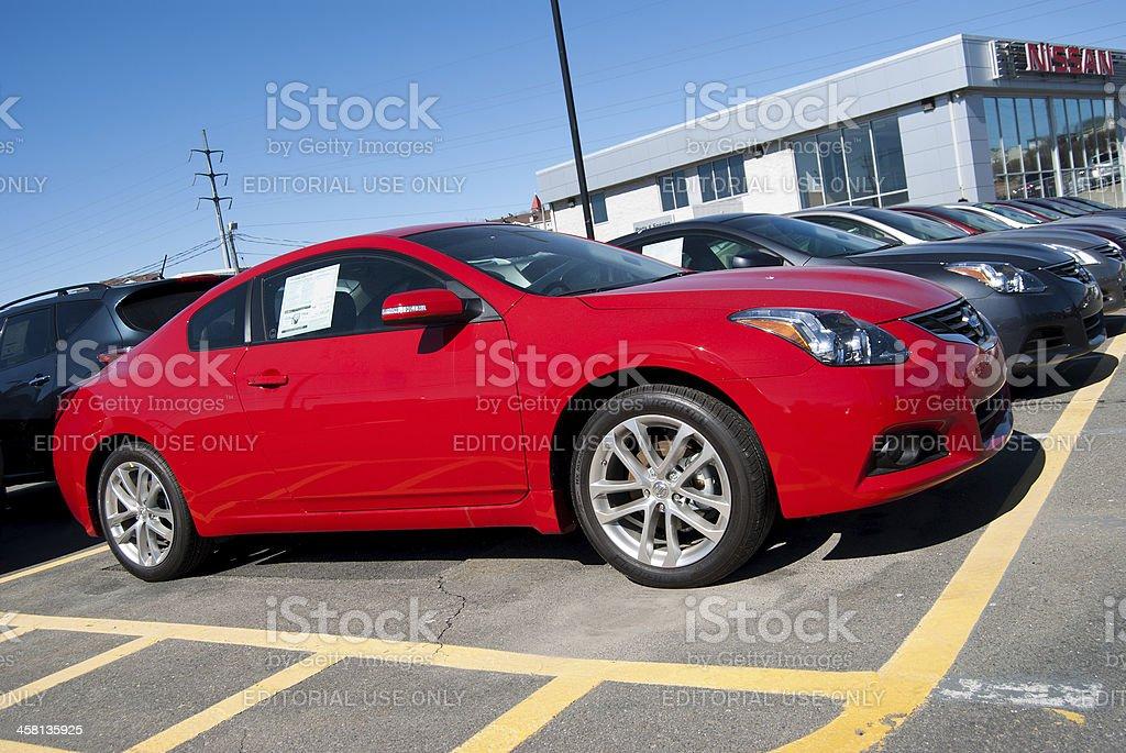 New 2011 Nissan Altima 3.5 SR royalty-free stock photo