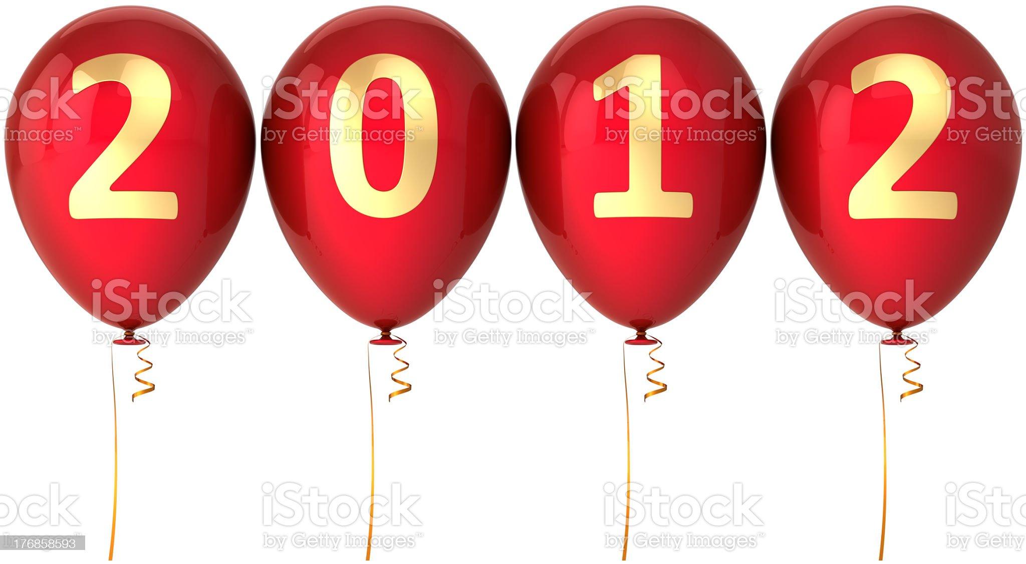 New 2012 Year balloons decoration royalty-free stock photo
