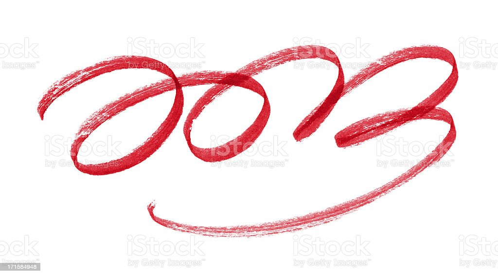 New 2013 Year Numbers with brush stroke isolated stock photo