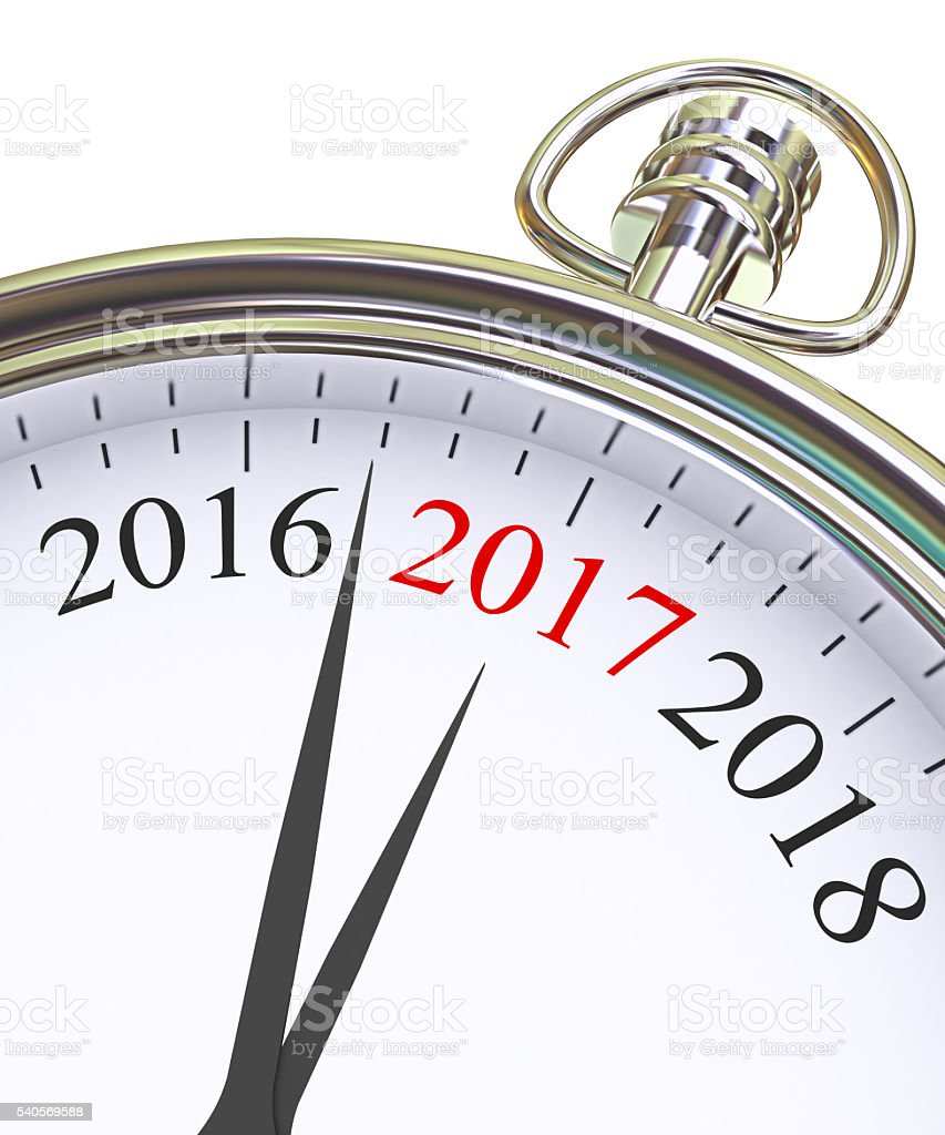 New 2017 Year stock photo