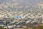 New 456,000 squarefoot IKEA Burbank CA from Hollywood moutain