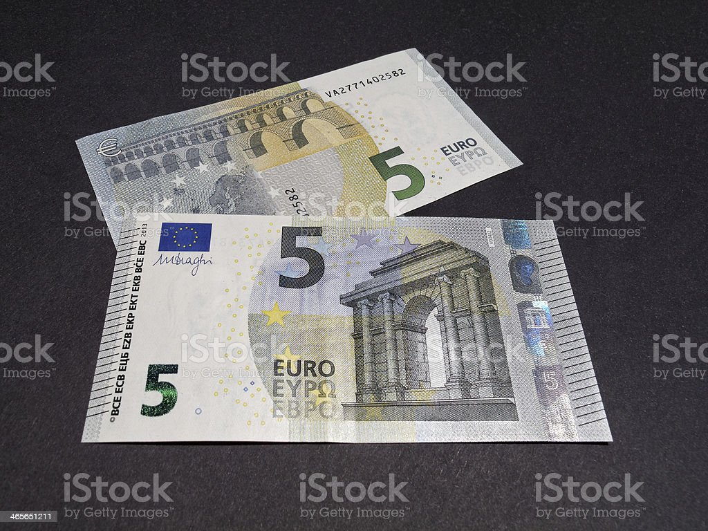 new 5 Euro note - european money stock photo