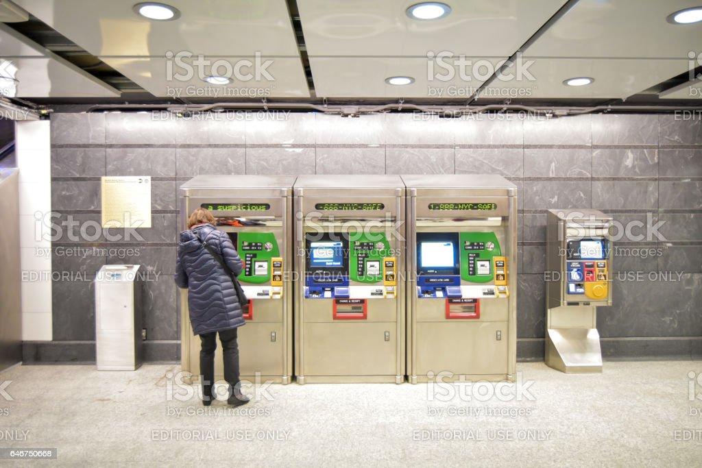 New 96th Street Subway Station Ticket Kiosk stock photo