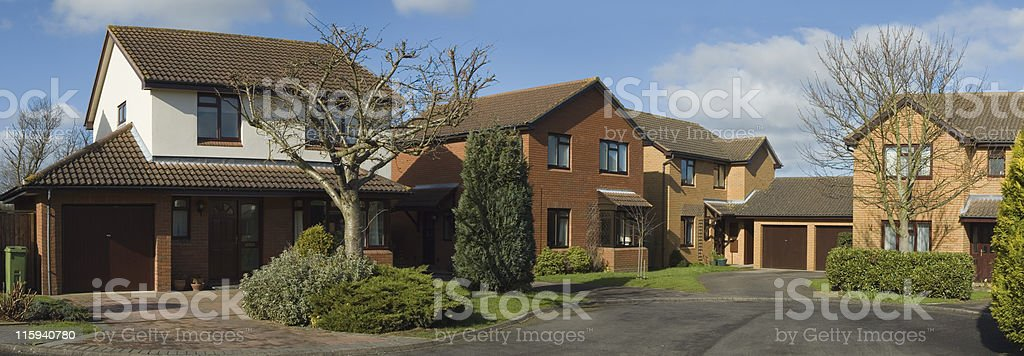 New affordable luxury houses. royalty-free stock photo