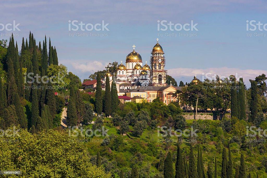 New Afon orthodox monastery, Abkhazia stock photo