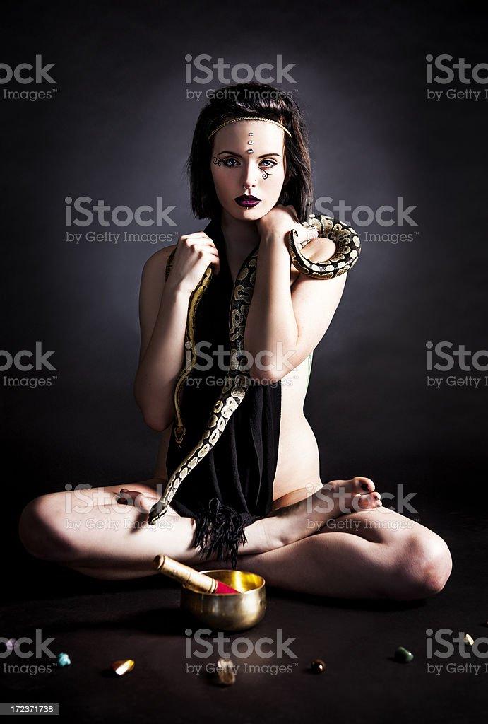 New Age: Spirtitual Woman royalty-free stock photo