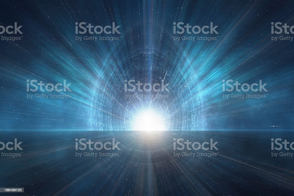 New age symbolic light glow emanating from the ether stock photo