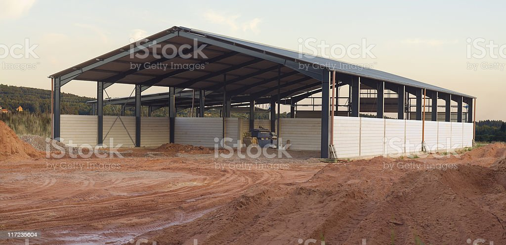 new agriculture building stock photo