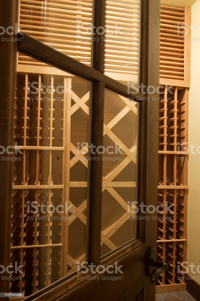 New All Wood Empty Wine Cellar royalty-free stock photo