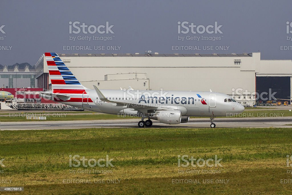 New American Airlines Airbus A319 stock photo