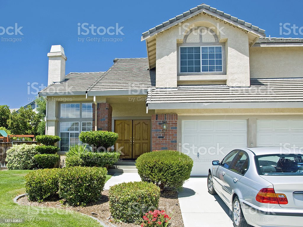 New American dream home stock photo