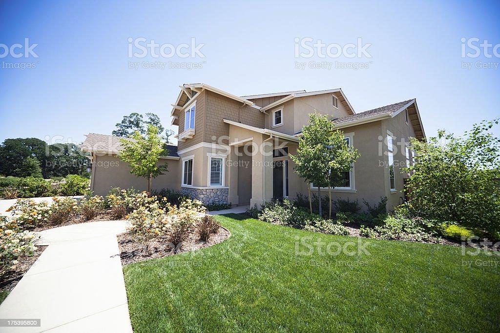 New American Suburb House stock photo