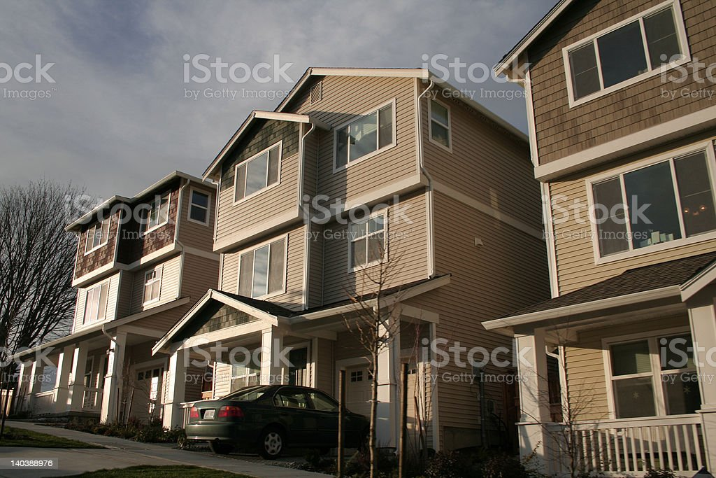 New American Townhouses royalty-free stock photo