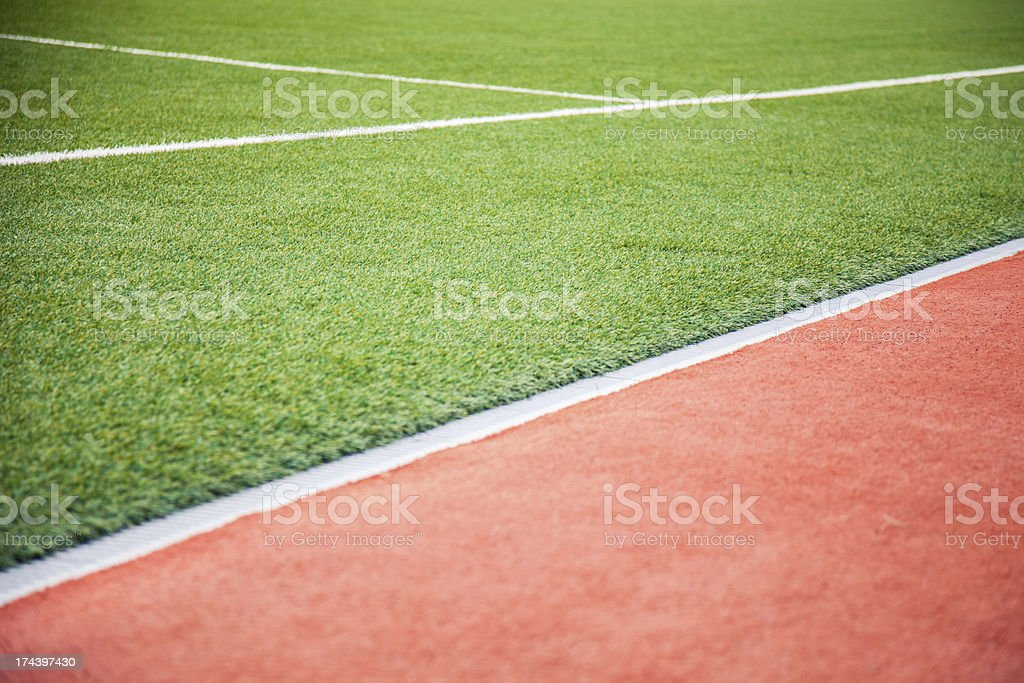 New and clean athletic/soccer field royalty-free stock photo