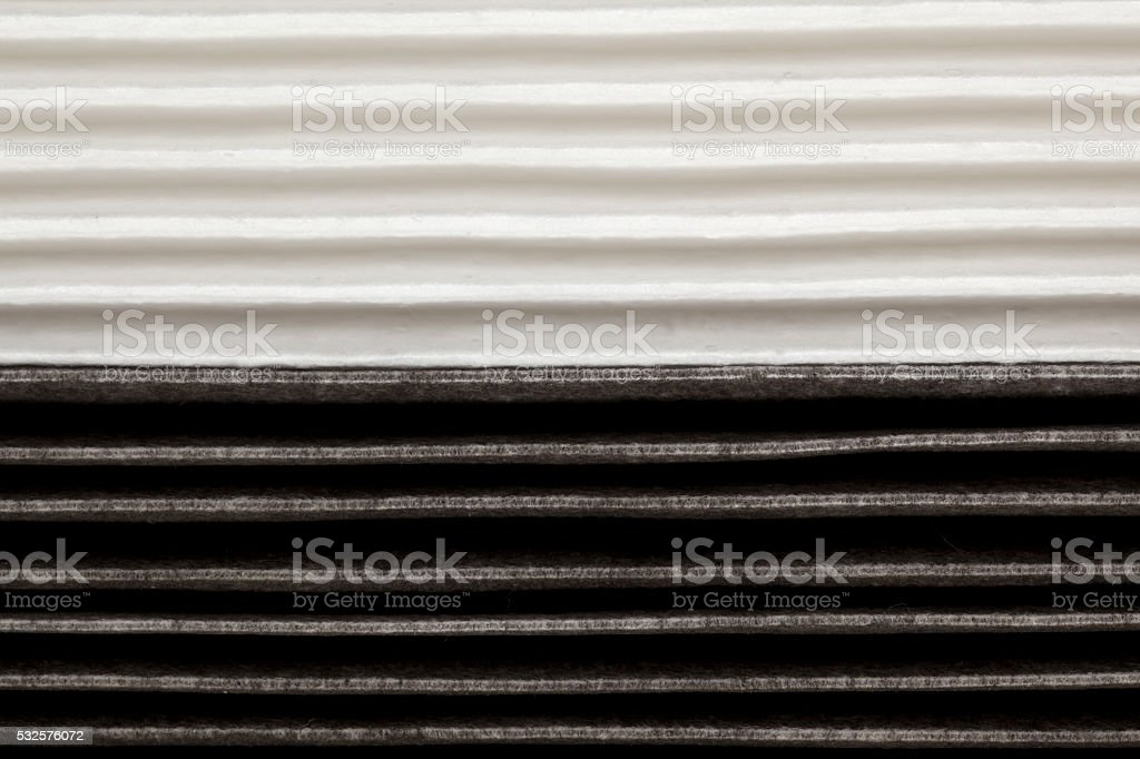 New and Old Air Filter stock photo
