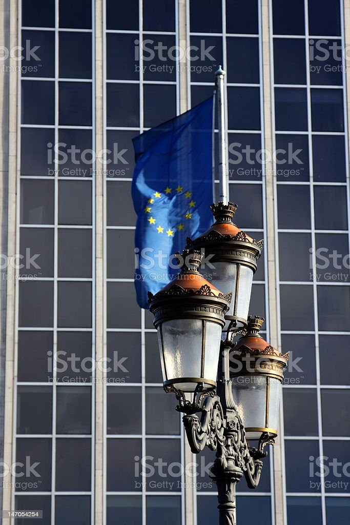New and old Europe royalty-free stock photo