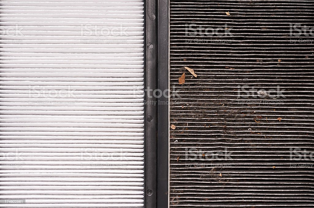New and old pollen filter royalty-free stock photo