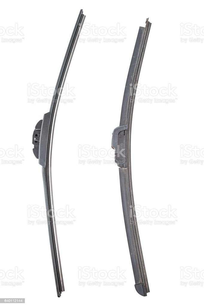 New and previously used Automotive windshield wipers stock photo